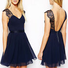 1PC Bridesmaid Wedding Evening Party Prom Formal Halter Chiffon Dress Reliable