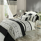 Catherine Lansfield Isadora Black Embroidered Duvet Quilt Cover Bedding Set