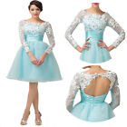 ❤NWT Applique❤ Short Homecoming Bridesmaid Evening Cocktail Prom Party Dress Hot