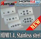 HDMI 1.4 Stainless steel Ultra Thin Wall Plate with Fingerprint Resistant