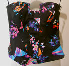 Versace for H&M UK 12 BNWT Black Oriental Print Bustier New Tags (US 8, EU 38)