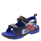 Spider Man Boy's Shoes LIGHTED Double Strap Sandal SILVER