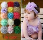 Baby Girls Toddlers Infant Flower Headband Hair Bow Band Accessory Photography