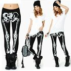 ItS7 Halloween Skeleton Bone X-Ray Printed Tights Leggings Lady Stockings Pants