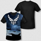 New United States Air Force Jet Take Off Symbol All Over Front Youth T-shirt Top