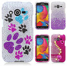 For T-Mobile Samsung Galaxy Avant Crystal Diamond BLING Case Cover +Screen Guard