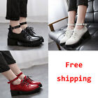 Pointed Toe Lace-up Ankle Buckle Strap Shoe Platform Chunky Mid-heel Women Pumps