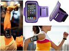 Slim Purple Sports Gym Running Armband Pouch Cover Case For Motorola Accessory