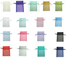 10pcs 17x22cm Organza Wedding Gift All Occasions Christmas Large Pouch Bag 7x9""
