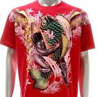 a26r M L XL XXL Artful T-shirt Tattoo Japanese Style Fish Koi Carp Baby Demon