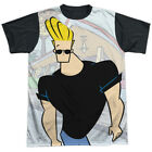 Johnny Bravo Cartoon Network TV Series Johnny Strutting Adult Black Back T-Shirt