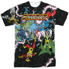 Justice League DC Retro Crisis on Infinite Earths Adult 2-Sided Print T-Shirt