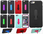 Apple iPhone 6 Plus 5.5 IMPACT Hard Rubber Case Cover Kickstand +Screen Guard