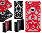 Apple iPhone 6 4.7 Stars Skull Hybrid Dual Layered Skin Case +Screen Protector