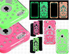 Apple iPhone 6 4.7 Lightning Stars Skull Hybrid Dual Layered Case + Screen Guard