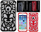 Apple iPhone 6 4.7 Vine Hybrid Dual Layered Skin Case Phone Cover +Screen Guard