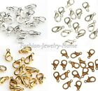 Wholesale 100Pcs Silver/Gold plated Lobster Clasps Hooks Findings,10/12mm