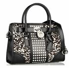 NWT Authentic Michael Kors Hamilton Calf Hair Satchel East West Tote Bag $598