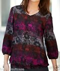 NEW LADIES WOMANS PAISLEY EVENING TOP TUNIC PLUS SIZE 14 16 30 32 OR 34 36