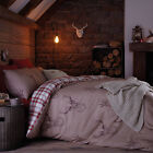 Catherine Lansfield Stag Deer Tartan Reversible Duvet Quilt Cover Bedding Set