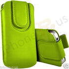 Green Leather Magnetic Pull Tab Mobile Phone Case For Various Huawei Models