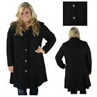 Jessica Simpson Women's Plus Button Up Wool Coat