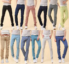 Mens Candy Bottoms Skinny Pants Pencil Jeans Trousers Classic Stretchy Sz:28-34
