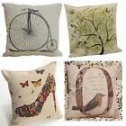 "New 17"" Fashion linen Throw Pillow Cases Home Decorative Cushion Cover Square"