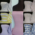 Printed Cotton lycra 4 way stretch jersey stretch fabric material