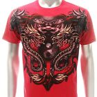 a70r Artful T-shirt Sz L XL XXL Tattoo Skull Japanese Lion Dragon RYU Boyfriend