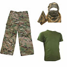 Kids Pack 2 HMTC MTP MultiCam Match -  Shirt Pants Shemagh Army Soldier Dress Up