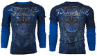 Xtreme Couture AFFLICTION Mens THERMAL T-Shirt HONORABLE Biker MMA S-3XL $58 image