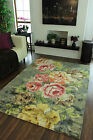 New High End Modern Floral Grey Area Rugs Elegant Small Large Distinctive Carpet