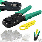 Rj11 RJ45 Ethernet Network Cable Crimping Crimper Stripper Tool + 10 Free Crimps