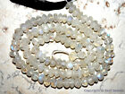"Fire Rainbow Moonstone 4.5-5 mm diameter Faceted Rondelle 14"" Strand"