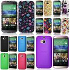 Floral Gel Rubber / Ultra Slim Thin Skin Case Cover For Your HTC One M8 Phone
