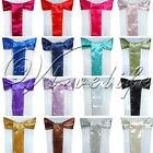 1 Satin Chair Cover Sash Bow 15cm*275cm Wedding Party Event Banquet Decorations