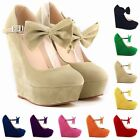 Hot Ladies Womens High Wedge Heels Shoes Platform Strappy Sandals Size UK 2 - 9