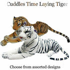 """Cuddles Time 30"""" Laying Tiger Soft Toys"""