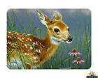 Tuftop Glass Chopping Board Fawn Baby Deer Flower Wildlife Kitchen Worktop Saver