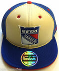 NHL New York Rangers Reebok Structured Mesh 210 Fitted Cap Hat NEW