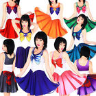 Sailor Moon Cosplay Costume Uniform Fancy Dress Up Mini Dresses Skirt Sundress