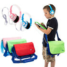 Kids Messenger Bag, Headphones + 6 Screen Protectors for LeapPad Ultra  XDi 7""