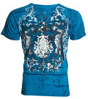 Archaic AFFLICTION Mens T-Shirt AXIS Eagle Wings Tattoo Biker MMA M-4XL $40 image