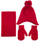 Beanie and Scarf Gloves Knit Set, Acrylic Material, Available Colors