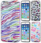 Apple iPhone 6 / 6s TPU HARD Hybrid TPU CANDY Gel Skin Case Cover + Screen Guard