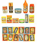 TOPPS Eraser+Matching Sticker WACKY PACKAGES Food+Home Brand Items *YOU CHOOSE*