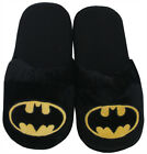 Batman Logo DC Comics Superhero Adult Mens Plush Slippers