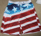 NWT JOE BOXER AMERICAN FLAG USA SURF BEACH SWIM BOARD SHORTS TRUNKS sz S or XXL