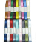 """10y 25y 50y 22mm 7/8"""" Mixed Assorted Double Sided Satin Ribbon Eco CLEARANCE"""
